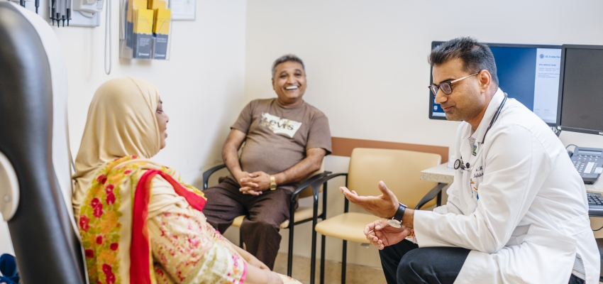 consultation with patient
